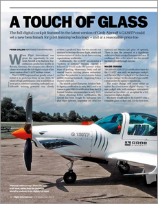 Flight International Magazine Article: A Touch of Glass Grob G120TP Trainer