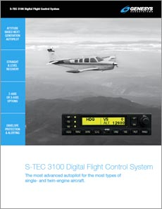 S-TEC 3100 Digital Flight Control System Brochure