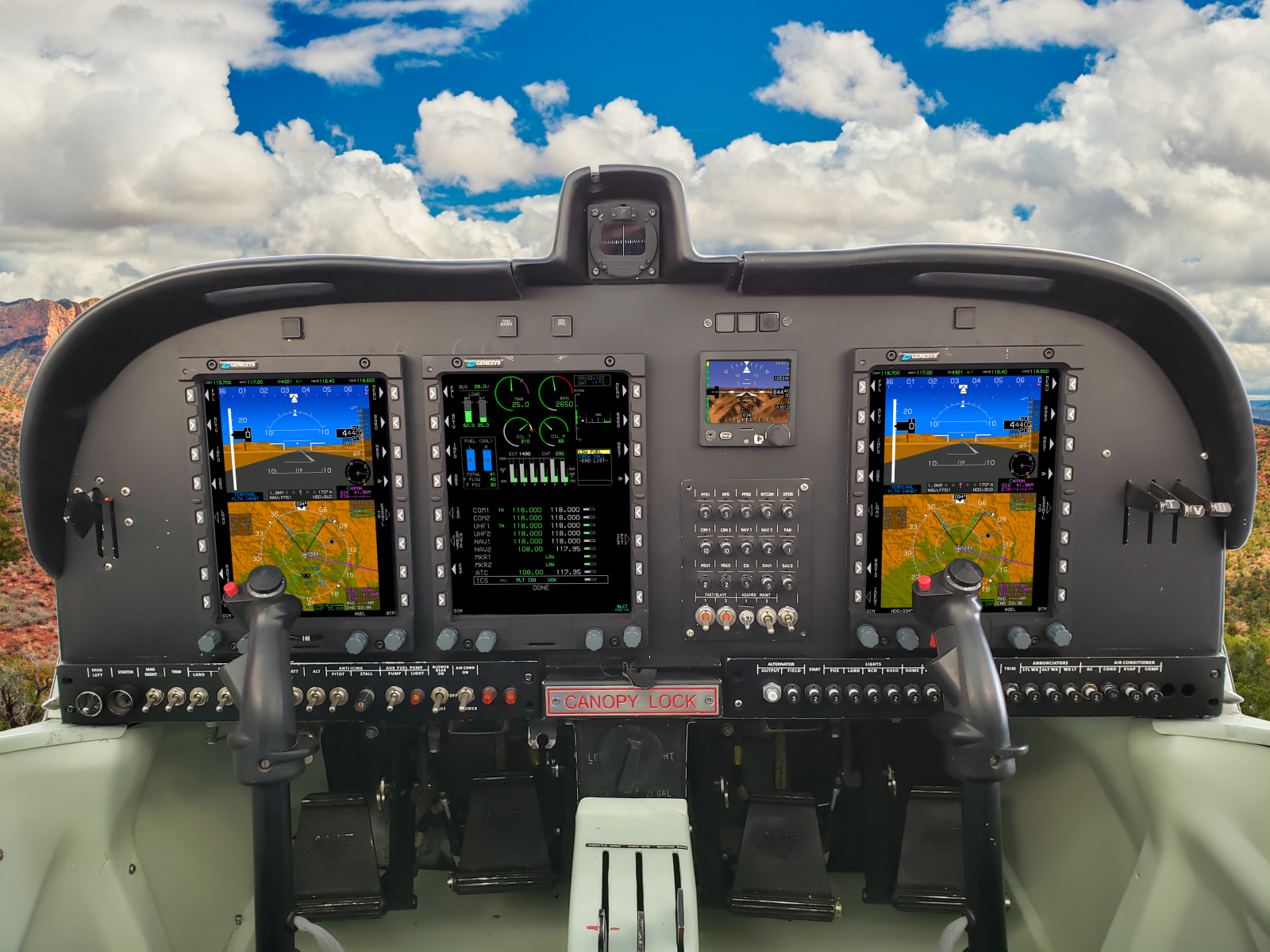 Super Mushshak MFI-17 with Genesys Avionics Suite